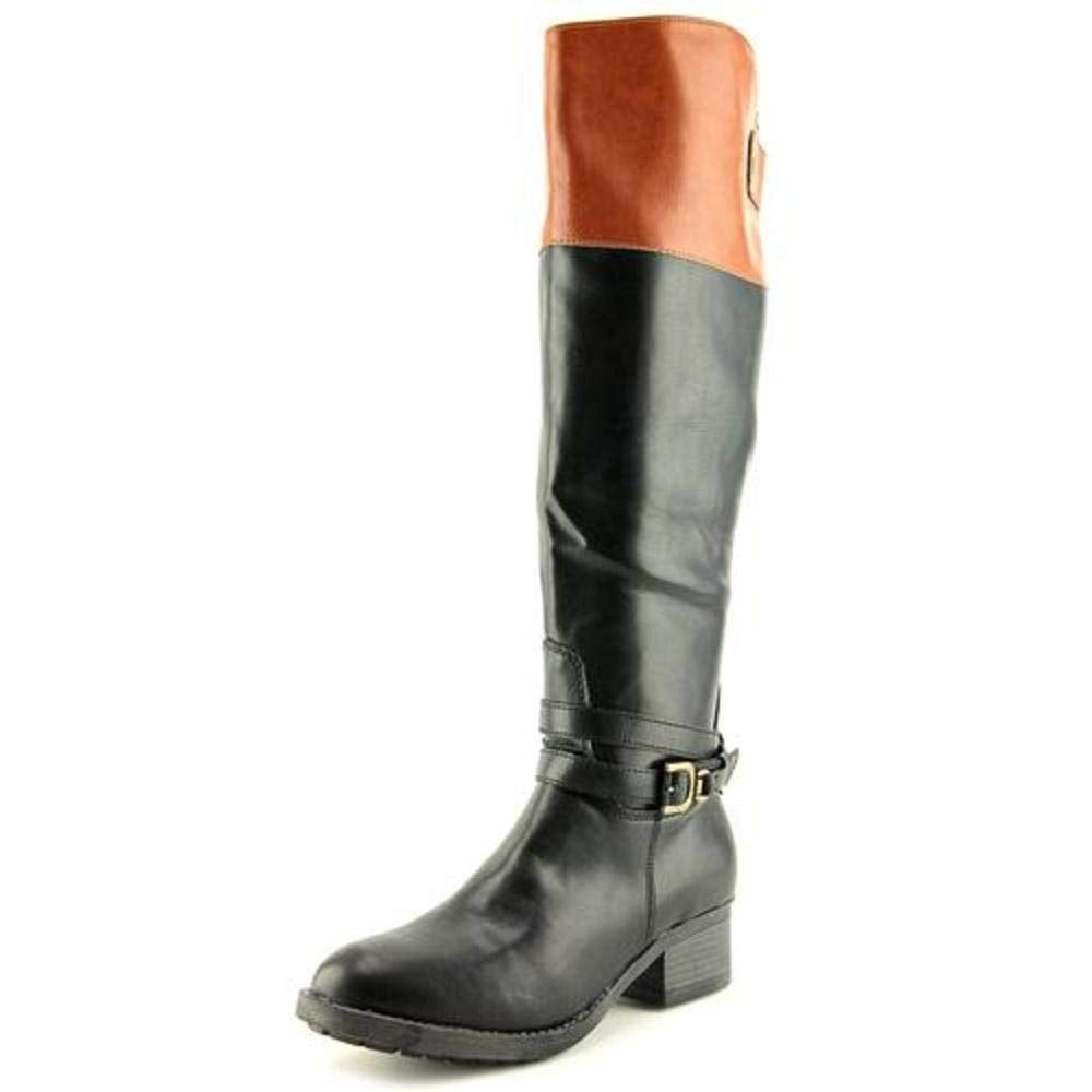 Rampage Imelda Women US 9 Black/Cognac Knee High Boot