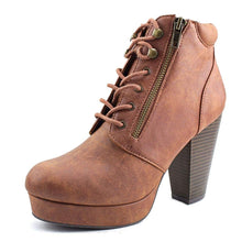 Material Girl Womens Mirheta Open Toe Ankle Fashion Boots