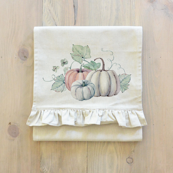 Watercolor Pumpkins {Style 2} Table Runner