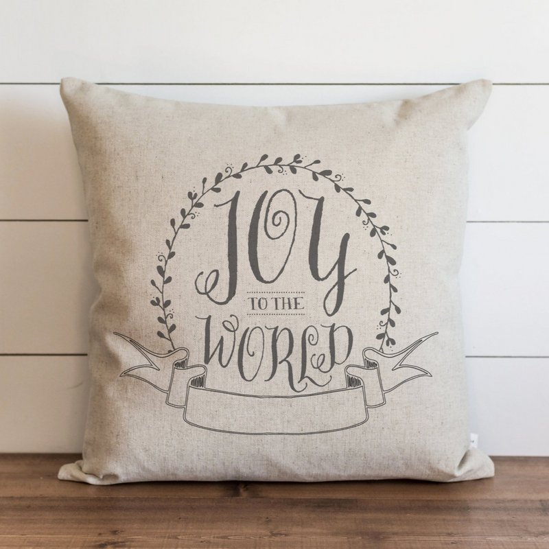 Joy To The World Pillow Cover. - Porter Lane Home
