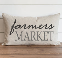Farmers Market Pillow Cover. - Porter Lane Home