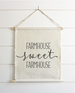 Farmhouse Sweet Farmhouse Hanging Wall Banner - Porter Lane Home
