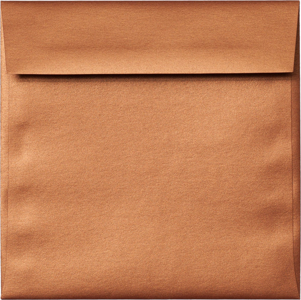 "6 1/2"" Square Copper Metallic Envelopes (6 1/2"" x 6 1/2"") - Paperandmore.com"