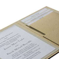 Silver Metallic Pocket Invitation Card, A7 Himalaya