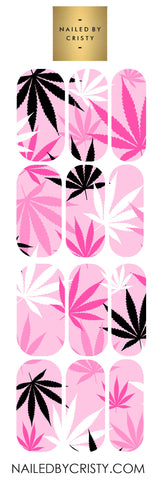 Decals- Pink Leaf