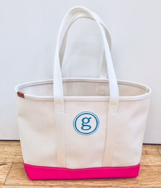 Embroidered Monogram Boulevard Finn Tote