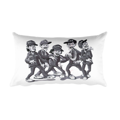 Zombies For Life Rectangular Pillow