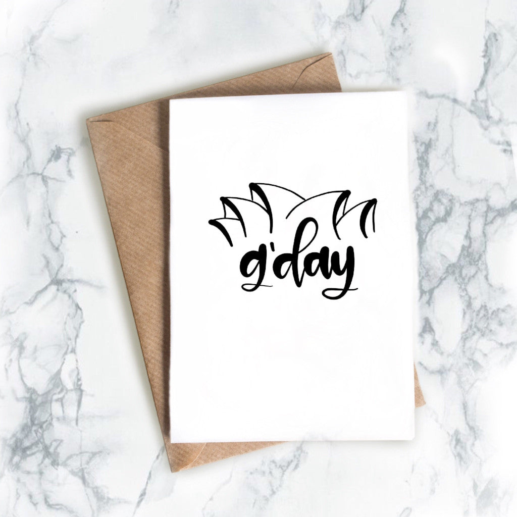 """G'day"" - greeting card"