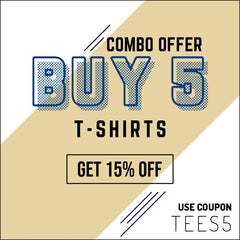 BUY 5 GET 15% OFF CODE TEES5