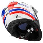 LS2 Pioneer MX436 Dualsport Helmet (QUARTERBACK WHITE RED BLUE)