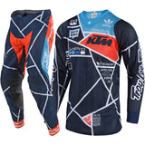 Troylee Designs Navy-Orange 2018 SE Air Metric MX Jersey And Pants Set