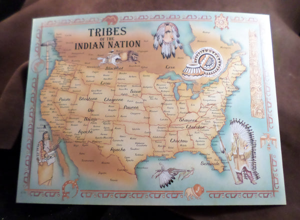 8 inch x 10 inch Tribal Map