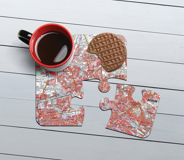 Map Gift - German Map Jigsaw Coasters