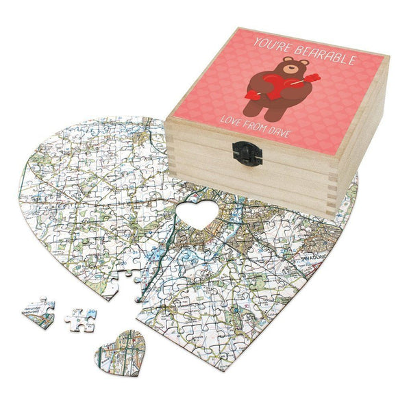 Map Gift - Personalised Valentine's Day Gift Set - You're Bearable