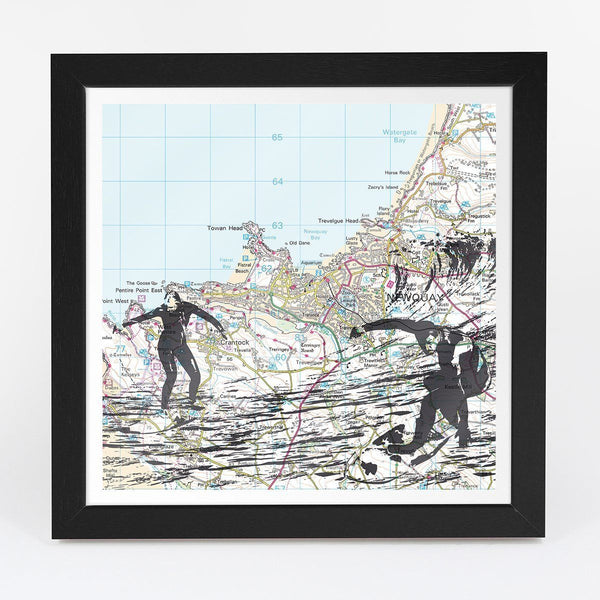 Map Gift - Surfing Adventure Map - Personalised