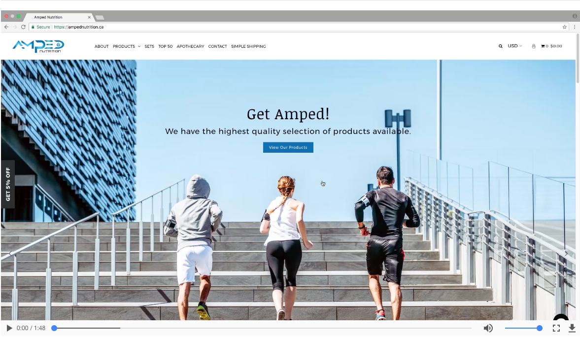 WELCOME TO AMPED NUTRITION ONLINE!