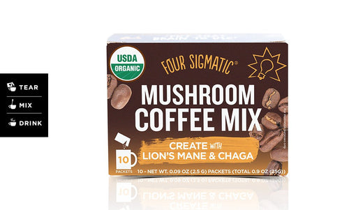 FOUR SIGMATIC MUSHROOM COFFEE WITH LIONS MANE