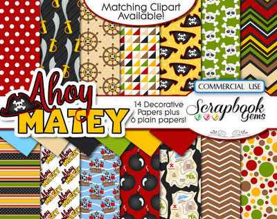 AHOY MATEY Digital Papers