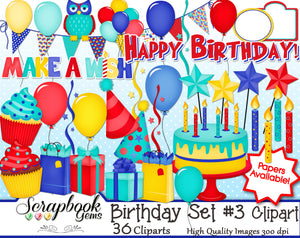 HAPPY BIRTHDAY #3 Clipart
