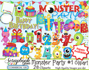 MONSTER PARTY #1 Clipart
