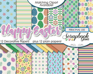 HAPPY EASTER Digital Papers