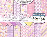 IT'S A GIRL Digital Papers