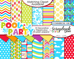 POOL PARTY (Kit #1) Digital Papers