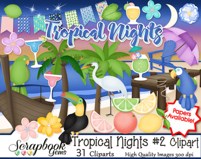 TROPICAL NIGHTS #2 Clipart