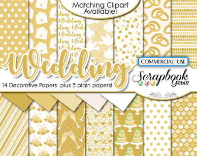 WEDDING GOLD Digital Papers