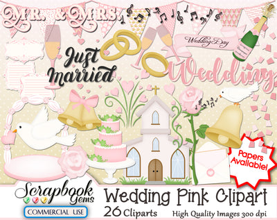WEDDING PINK Clipart