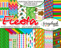 FIESTA! Digital Papers