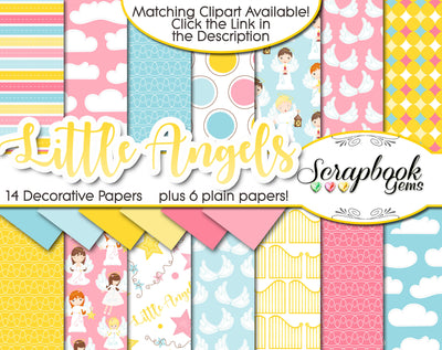 LITTLE ANGELS Digital Papers
