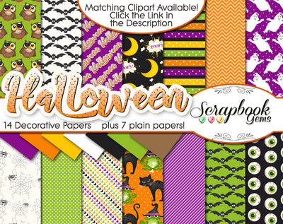 HALLOWEEN, Set #2 Digital Papers