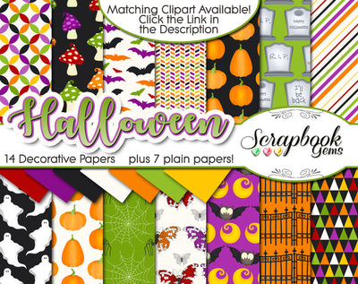 HALLOWEEN, Set #3 Digital Papers