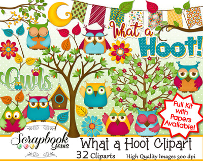 WHAT A HOOT OWLS Clipart