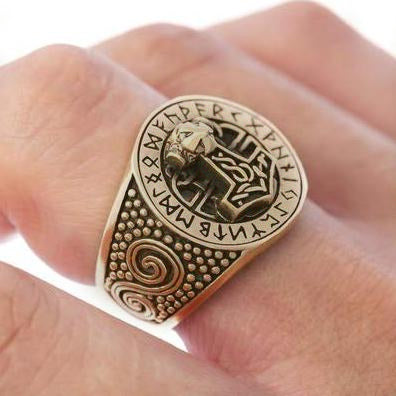 Bronze Mjolnir Ring