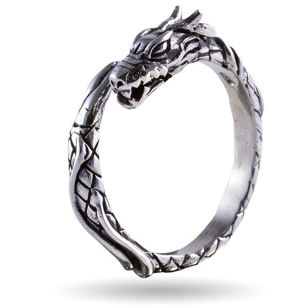 Jormungand Ring Sterling Silver
