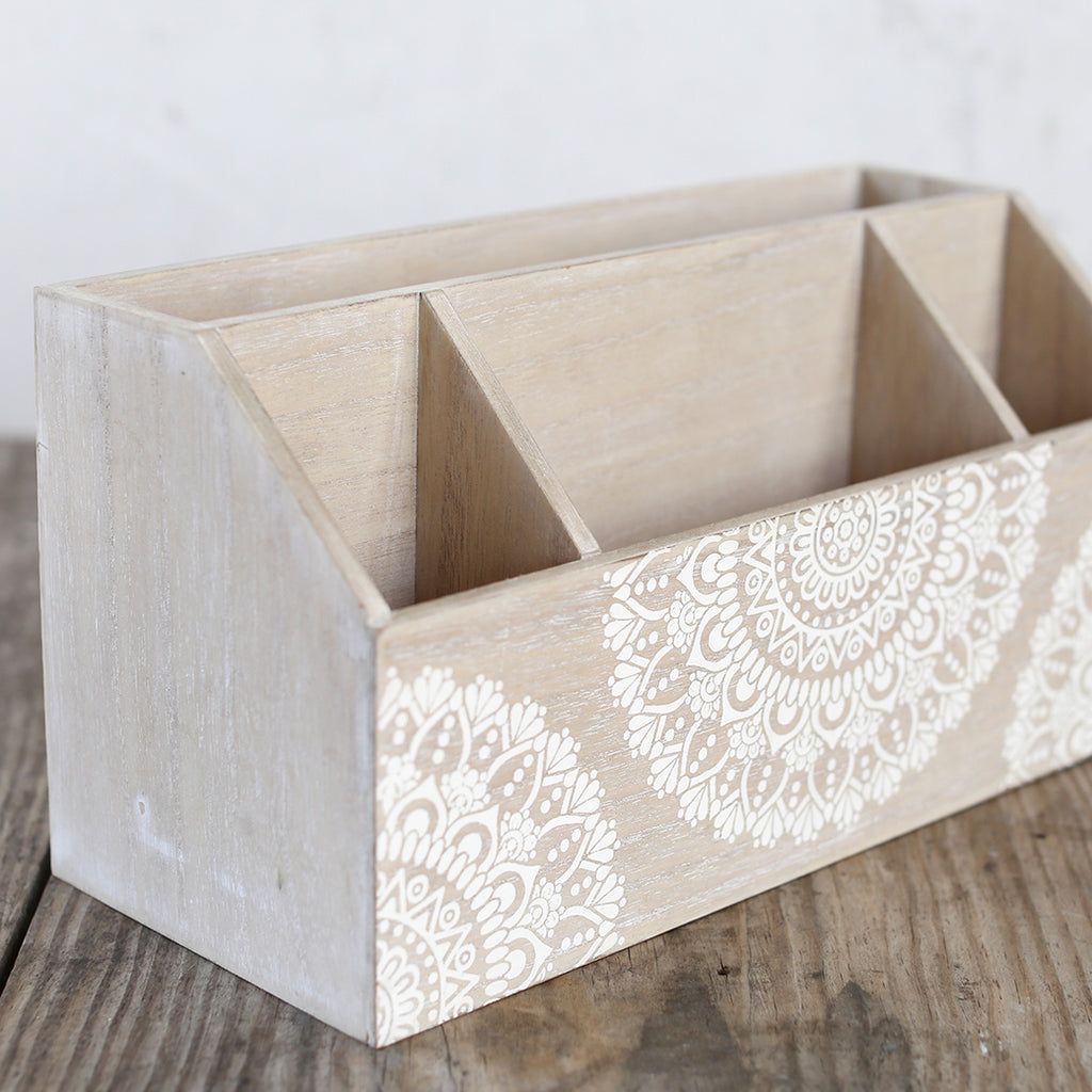 Shabby Chic Storage - Lacey Collection - Desk Letter & Pencil Holder