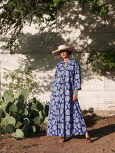 Indigo Lotus Peasant Dress