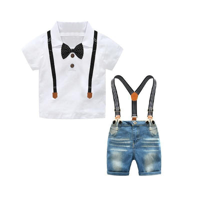 Boys Shirt & Suspenders Outfit
