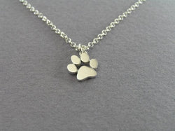 Cat and Dog Paw Print Necklace - Pretty Little Owls