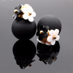 Brincos simulated pearl ball stud Earrings - Pretty Little Owls