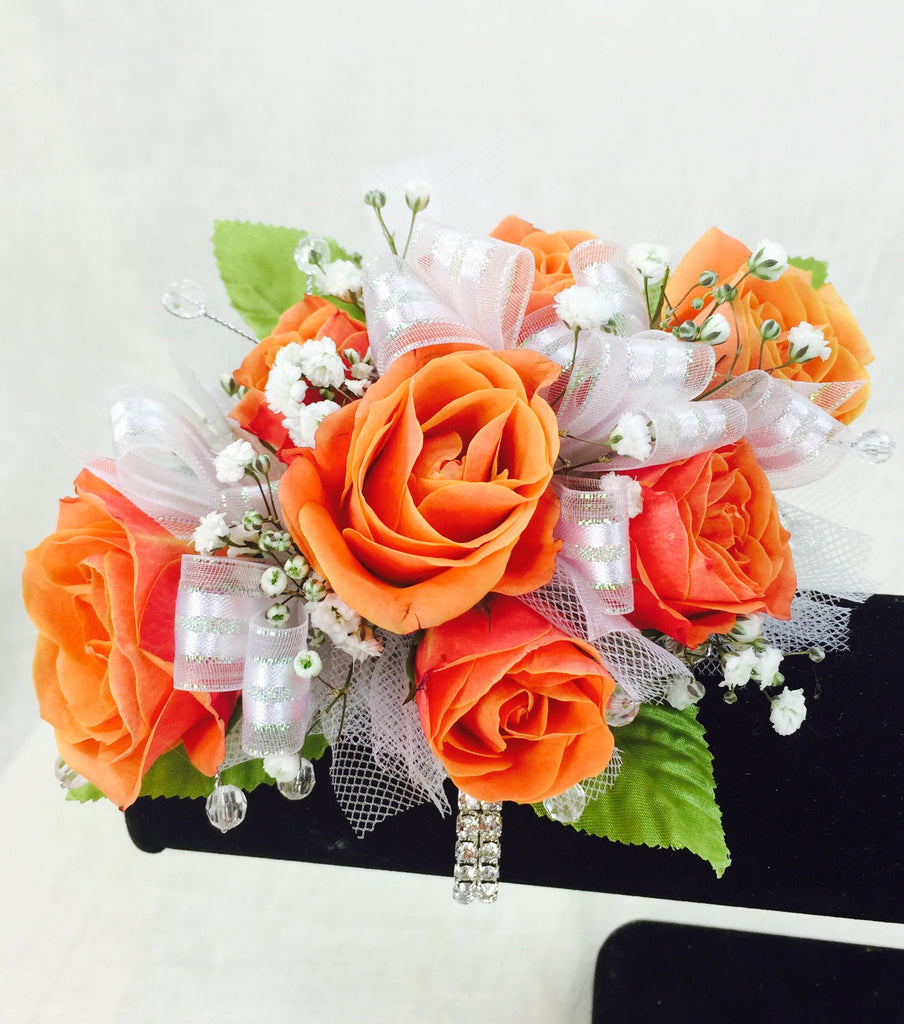 Orange Rose Prom Corsage
