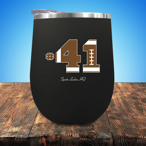 Football #41 Stemless UV Wine Cup JA767