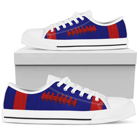 Football Dark Blue With Red Premium Low Top Shoes