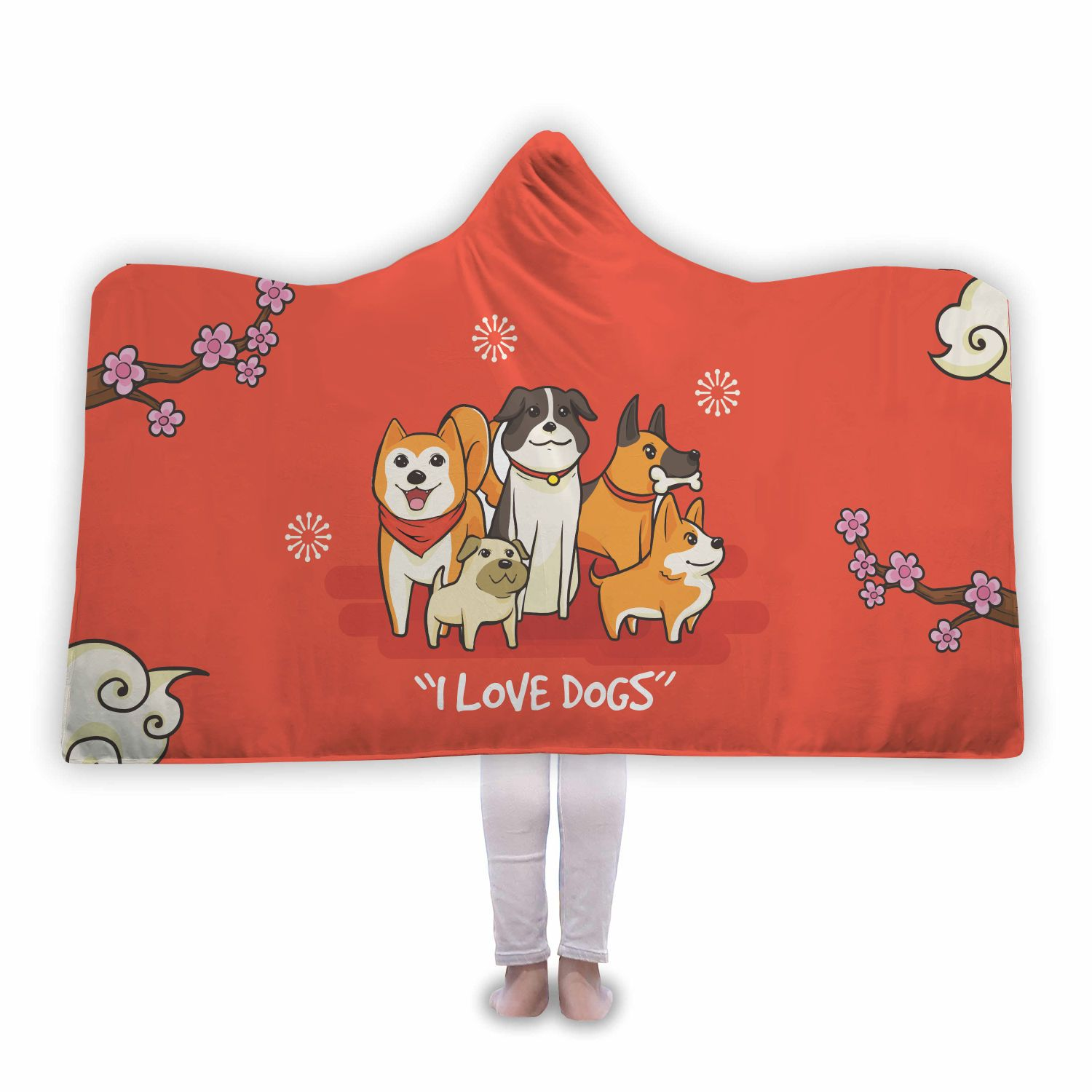 Dog Lover Premium Hooded Blanket