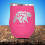 Football Papa Bear Stemless Wine Cup