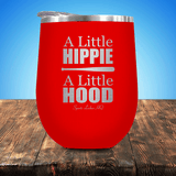 A Little Hippie A Little Hood Baseball/Softball Stemless Wine Cup