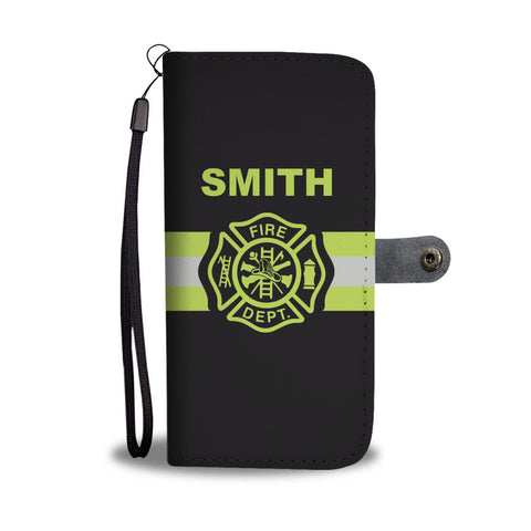 Firefighter (CUSTOM) Name Wallet Phone Case