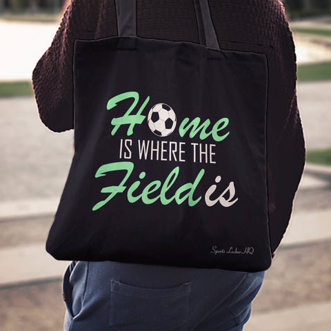 Home Is Where The Field Linen Tote Bag AL63